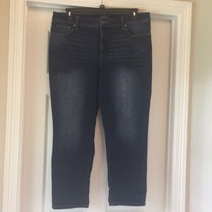 Chico's So Slimming Denim Jeans Sz 2.5 Crop 14 New